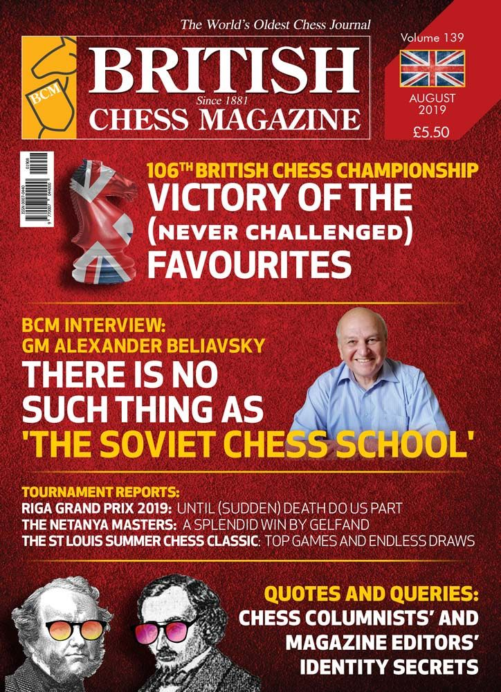 British Chess Magazine: August 2019